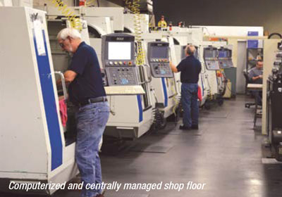 Whalley Precision computerized and centrally managed shop floor